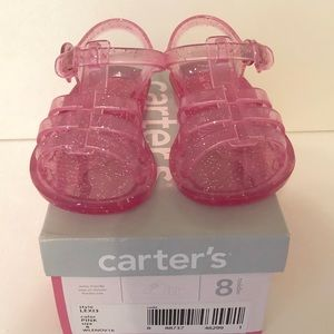 Carters Lexi Pink Jelly Toddler size 8